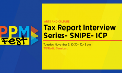 Tax Report Interview Series: SNIPE: ICP 11/3/20 10:30 pm