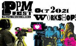 PPM Fest Workshops collage includes camera, group of people