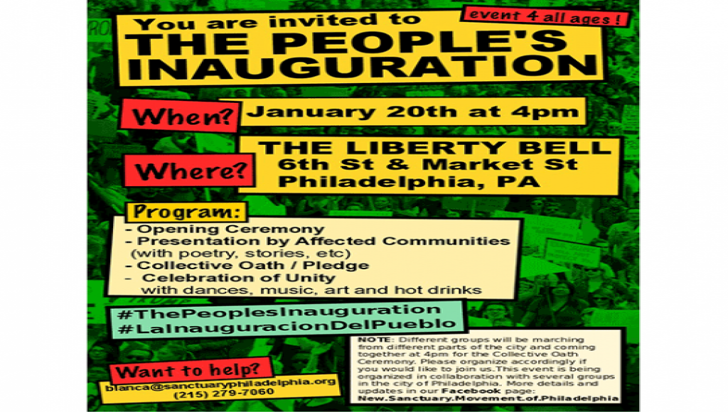 The People's Inauguration January 20, 2017 4pm