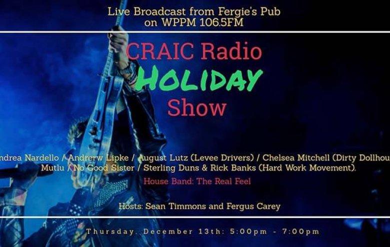 poster: Support WPPM FM at Fergie's Pub Dec. 14, 5 -7pm