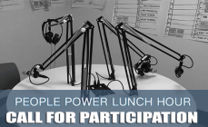 People Power Lunch Hour Call for Participation