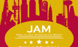 April is JazzAppreciation Month Logo