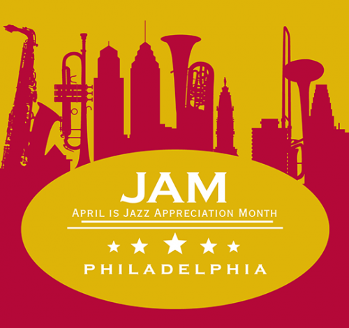 April is JazzAppreciation Month Logo