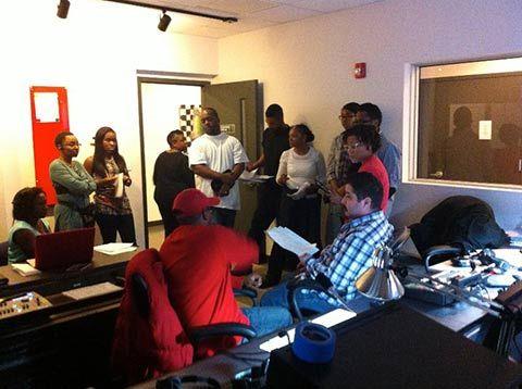 studio crew in control room