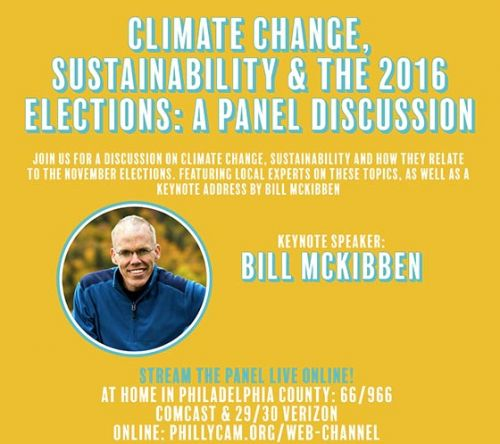 Livestream Panel Discussion Climate Change, Sustainability and the 2016 elections