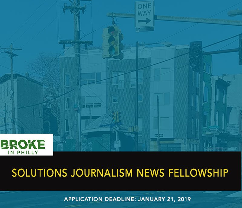 poster - solutions jounalism news fellowship deadline 1/21/2019