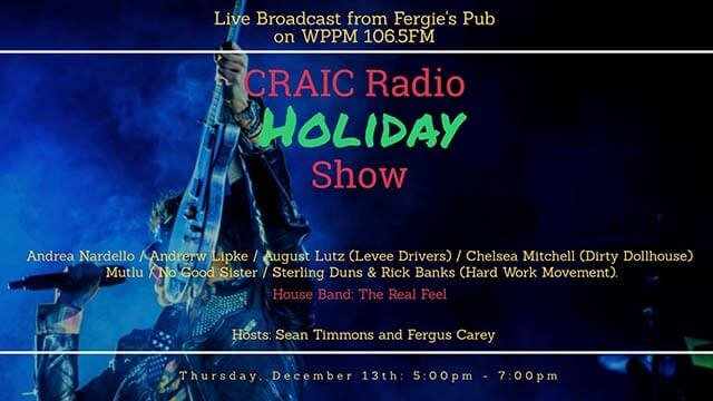 poster: Support WPPM FM at Fergie's Pub Dec. 14, 5 -7pm