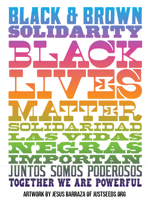 Black and Brown Solidarity Artwork by Jesus Barraza