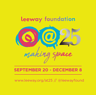 poster - leeway foundation 25th anniversary logo