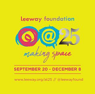 poster - leeway foundation 25th anniversary logo
