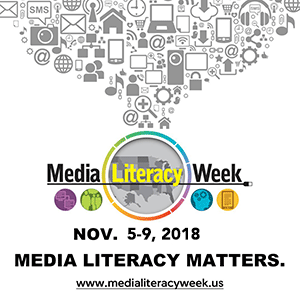 poster - media literacy week Nov. 5 -9, 2018