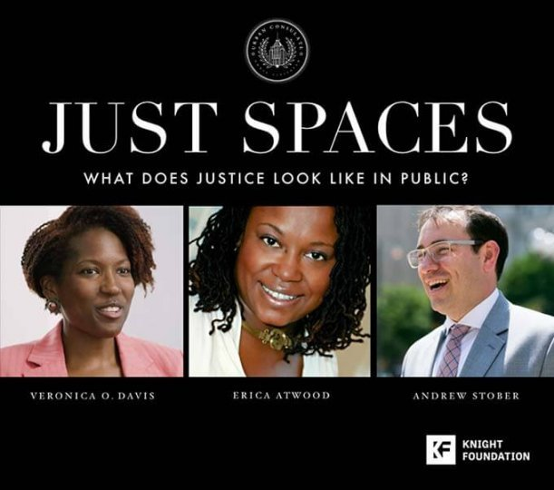 graphic - City Lobby: Just Spaces, a talk April 16, 6 pm