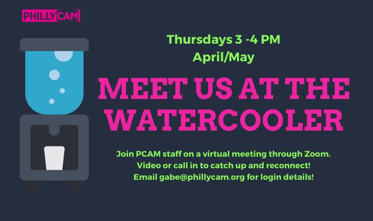 Meet us at  the Watercooler Thursday April/May 3-4pm