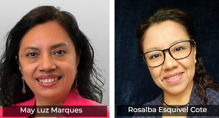 May 2021 Members of the Month: Latinx Fellows Rosalba Esquivel Cote &  Mary Luz Marques