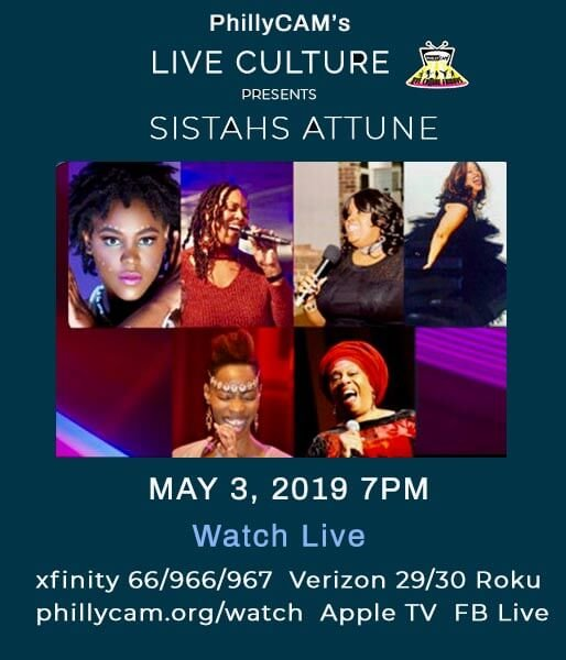 poster - Live Culture presents sistahs attune May 3, 2019 7pm