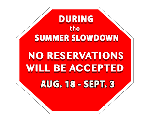 icon - summer slowdown Aug 18 - Sep 3, 2018