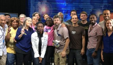 photo - Democracy Now 2016 DNC tech crew
