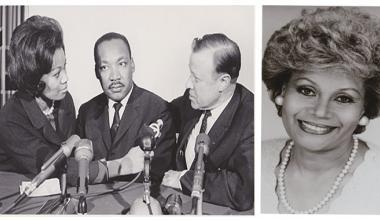 Trudy haynes interviewing MLK